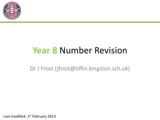 Year 8  Number Revision