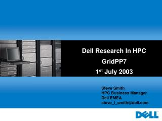 Dell Research In HPC
