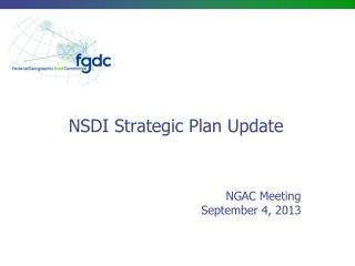 NSDI Strategic Plan Update