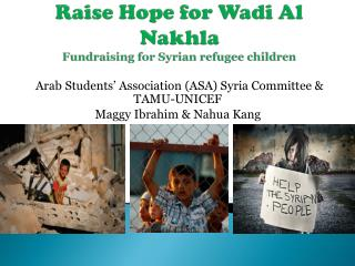 Raise Hope for  Wadi  Al  Nakhla Fundraising for Syrian refugee children