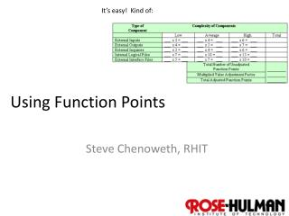 Using Function Points