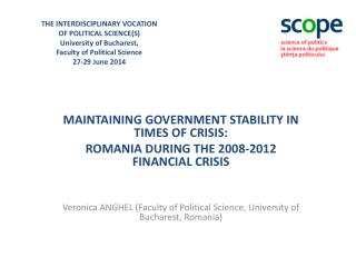 MAINTAINING GOVERNMENT STABILITY IN TIMES OF CRISIS: