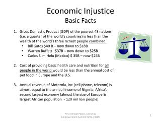 Economic Injustice Basic Facts