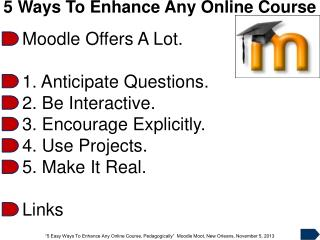 5 Ways To Enhance Any Online Course