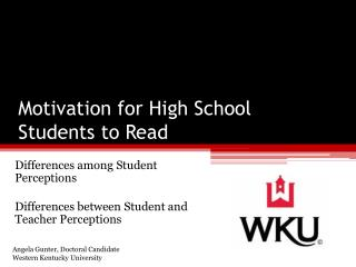 Motivation for High School Students to Read