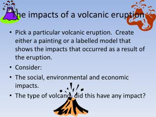 The impacts of a volcanic eruption