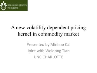 A new volatility dependent pricing kernel in commodity market