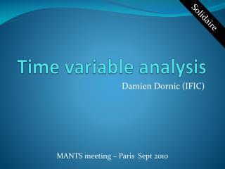 Time variable analysis