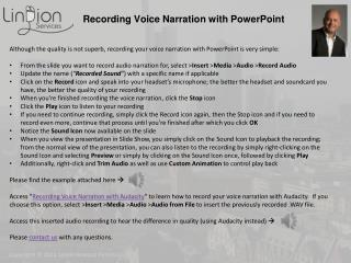 Recording Voice Narration with PowerPoint