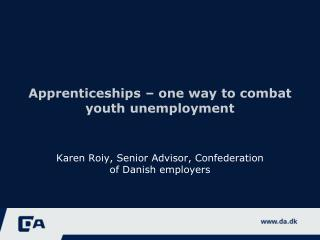 Apprenticeships  –  one way  to  combat youth unemployment