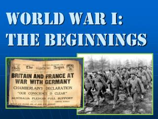 World war i: The Beginnings