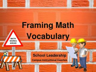 Framing Math Vocabulary
