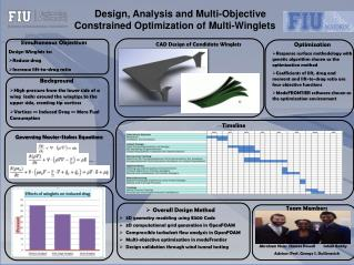 Design, Analysis and Multi-Objective  Constrained Optimization of Multi-Winglets