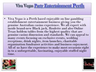 Viva Vegas  Party Entertainment Perth