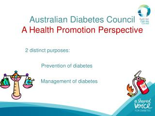 Australian Diabetes Council A Health Promotion Perspective