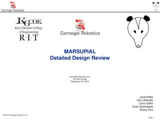 MARSUPIAL Detailed Design Review