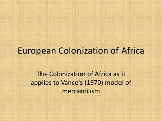 a study on the effects of european colonization