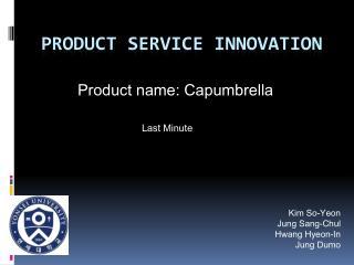 Product Service Innovation
