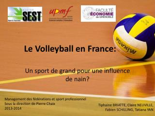 Le Volleyball en France: