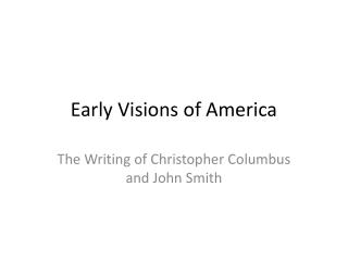 Early Visions of America