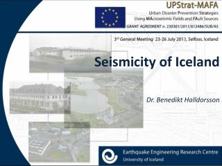 Seismicity of Iceland