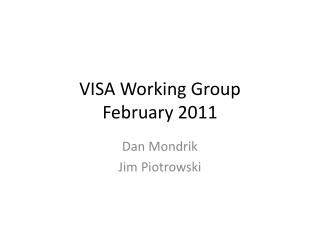 VISA Working Group February 2011