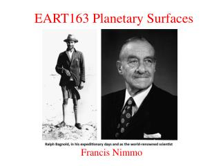 EART163 Planetary Surfaces
