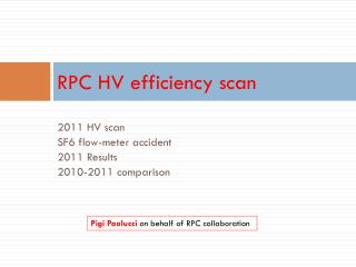 RPC HV efficiency scan