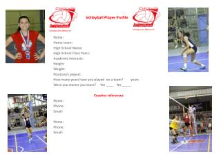 Volleyball  Player  Profile