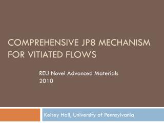 Comprehensive jp8 mechanism for vitiated flows