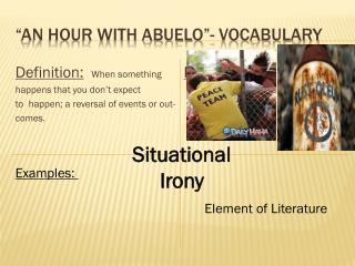 """AN Hour with  Abuelo ""- Vocabulary"