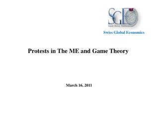 Protests in The ME and Game  Theory