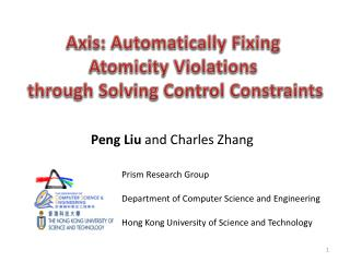 Peng  Liu  and Charles Zhang