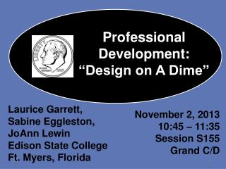 "Professional Development: ""Design on A Dime"""