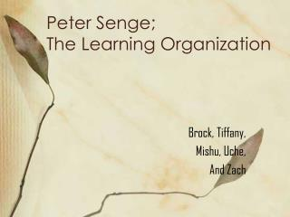Peter Senge;  The Learning Organization