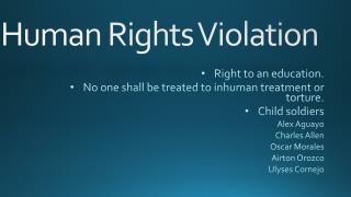 Human R ights Violation