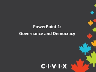 PowerPoint 1: Governance and Democracy