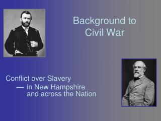 Background to Civil War
