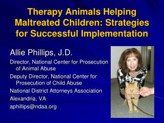 Therapy Animals Helping Maltreated Children: Strategies for Successful Implementation