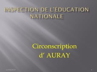 Inspection de l'Éducation Nationale