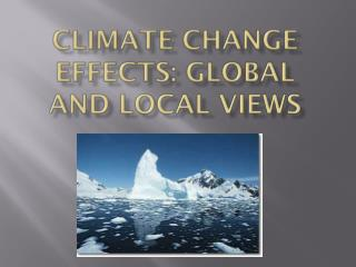 Climate Change Effects: Global and Local Views