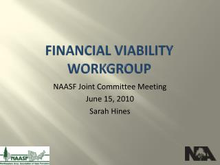 Financial viability workgroup