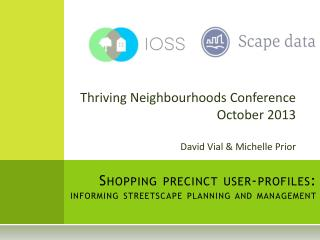 Shopping precinct user-profiles:  informing streetscape planning and management