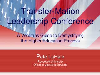 Veterans Experiences in Higher Education