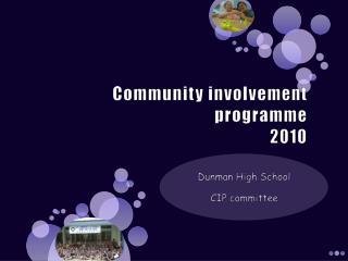 Community involvement programme 2010