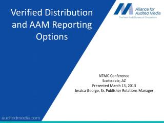 Verified Distribution and AAM Reporting Options