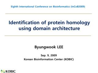 Identification of protein homology using domain architecture