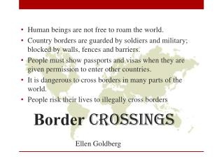 Border  crossings Ellen Goldberg