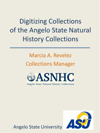 Digitizing Collections of the Angelo State Natural History Collections