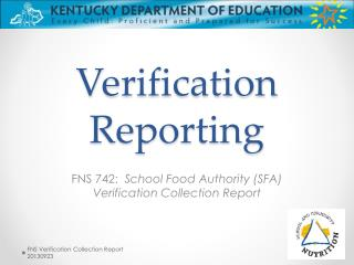 Verification Reporting
